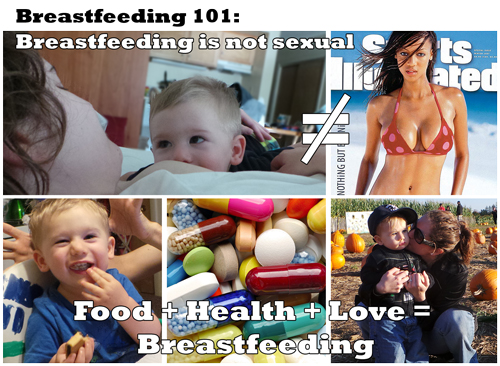 Breastfeeding is not sexual. It is food, health and love.