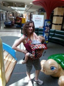 breastfeeding in beco baby carrier